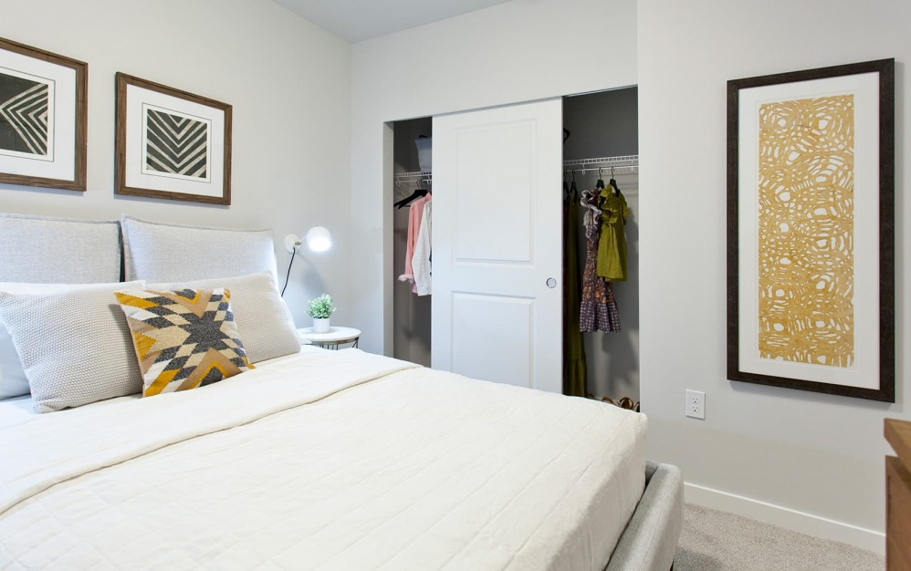spacious bedroom with large, open spaces